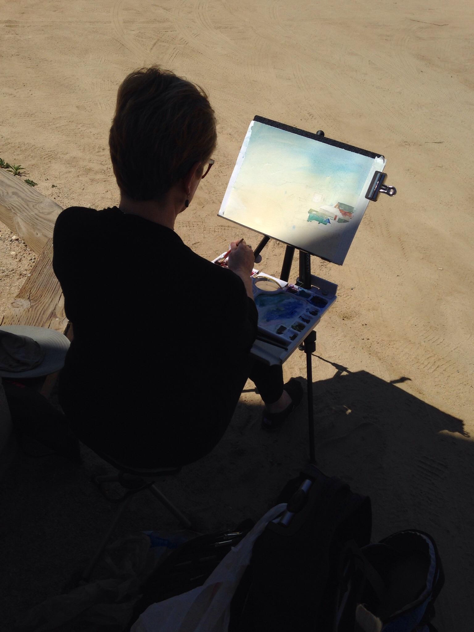 Painting in Crystal Cove, Laguna, California