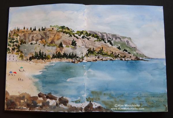 Watercolor Sketch in Stillman & Birn Alpha Series Sketchbook