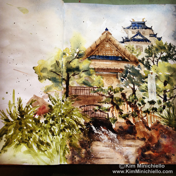 Watercolor Sketch, in a 9 x 11 Stillman & Birn Sketchbook
