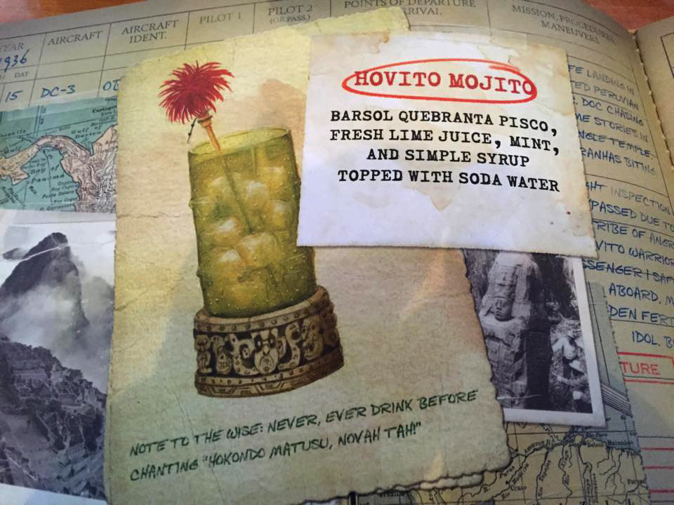 Hovito Mojito: My illustrations in the menu photo credit  Steve Fox, Inside the Magic .