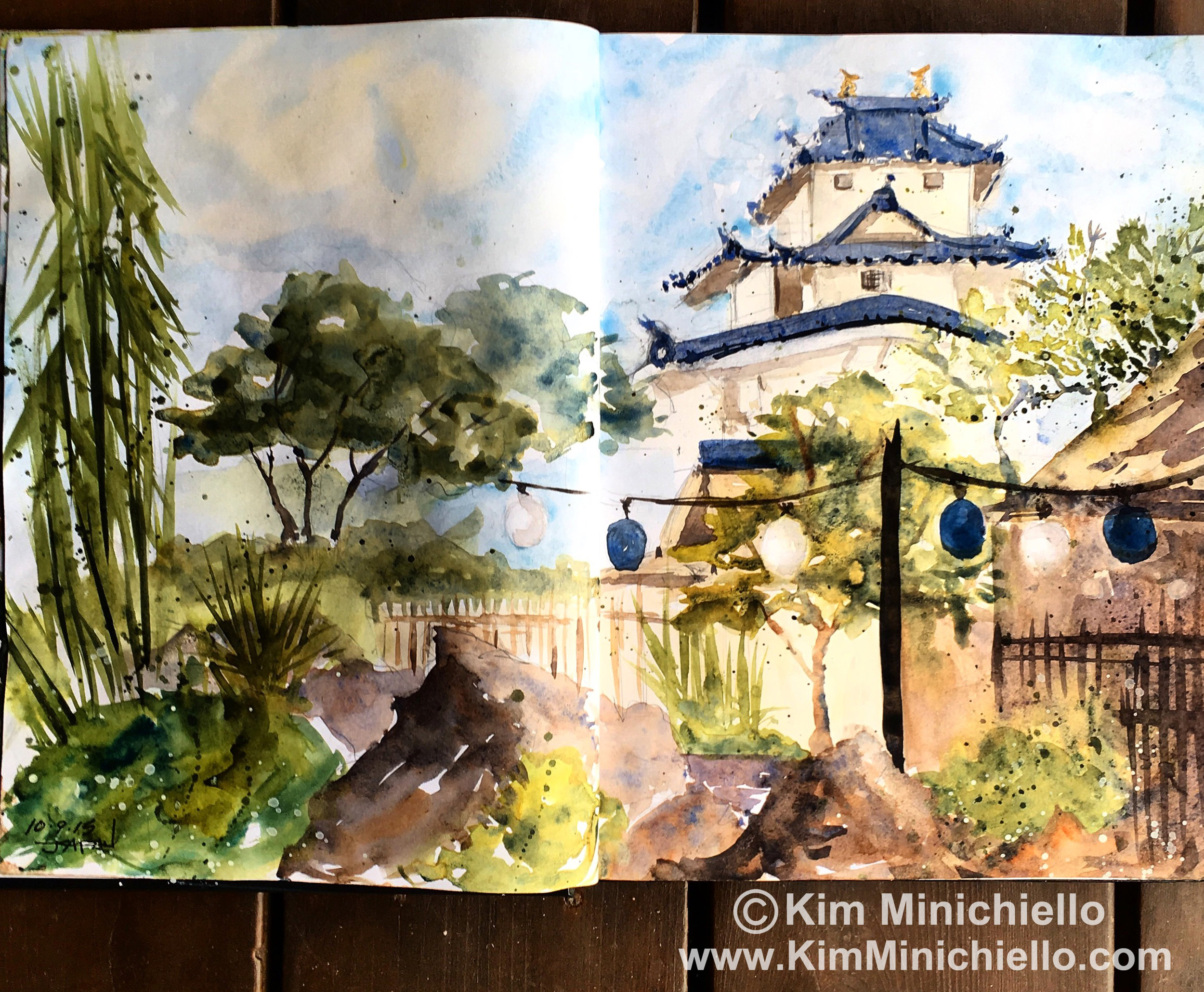 Watercolor Sketch in Stillman & Birn Alpha Series Sketchbook