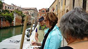 Helen K. Beacham Teaching Students in Venice, Italy