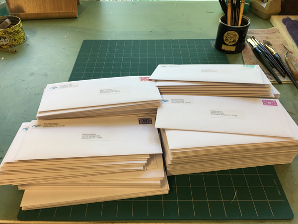 Some of the Letters Going Out to All the FWS Signature Members