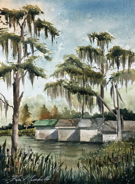 Lake Butler Boat Houses (En Plein Air)