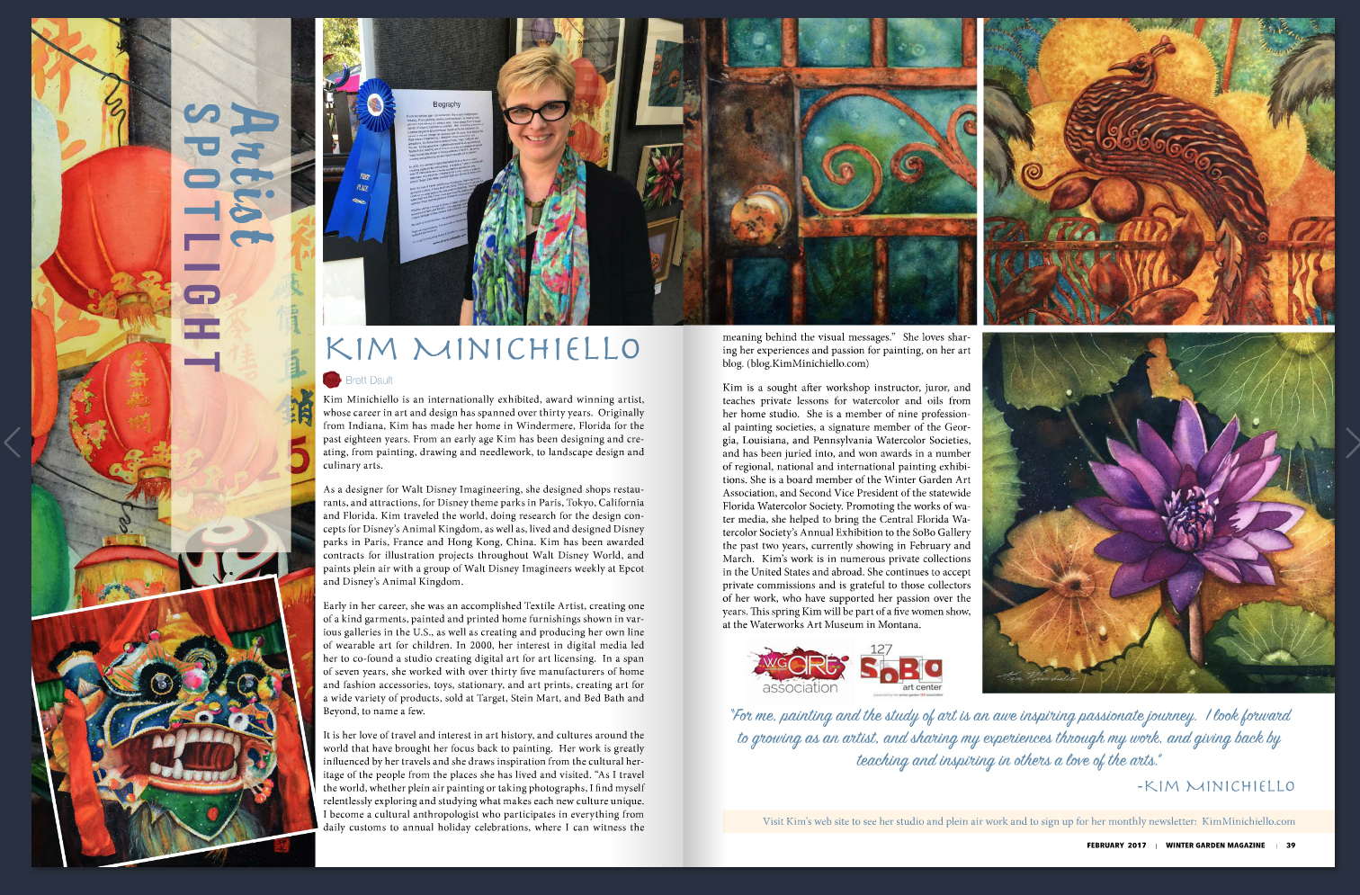The Winter Garden Magazine - Featured article in The Winter Garden Magazine.Click here to read.