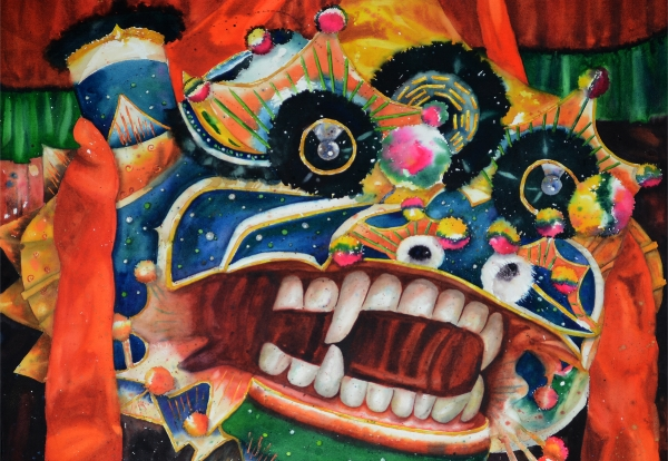 Featured on Blogs - Lion Dance featured on Carolyn Edlund's Artsy Shark Blog.Featured Artist on Carolyn Edlund's Artsy Shark Blog.