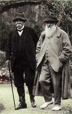 Georges Clemenceau & Claude Monet_  Photo:  Wikimedia Commons