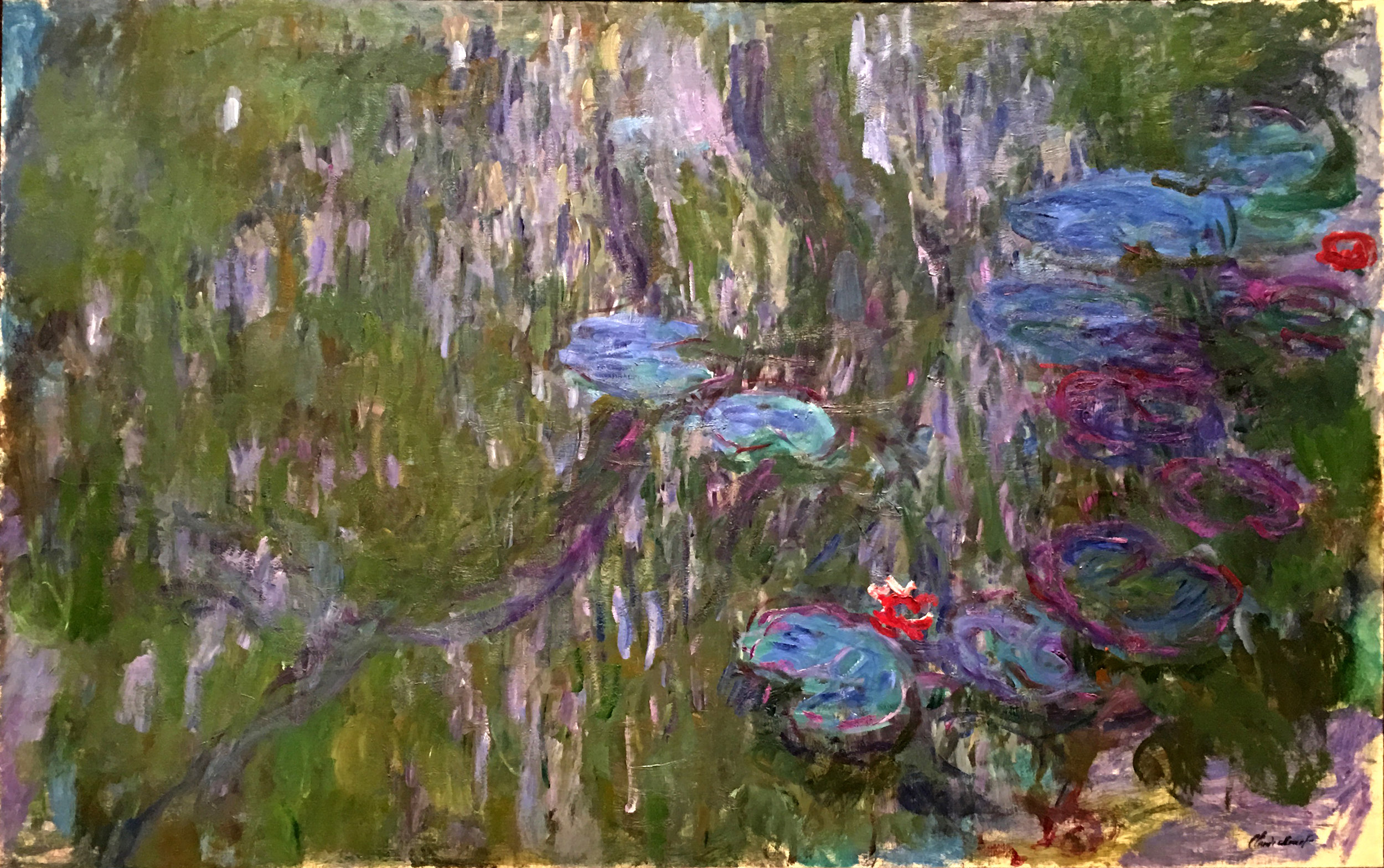 "Claude Monet's ""Water Lilies,"" at the Metropolitan Museum of Art, New York.  A study for the the grand paintings in the L'Orangerie in Paris"