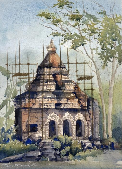 Nepali Gibbons' Home (En Plein Air)