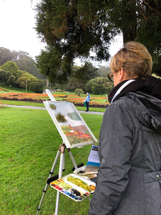 Painting at Golden Gate Park