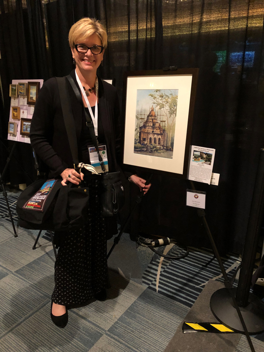 Displaying One of My Plein Air Paintings at the Convention