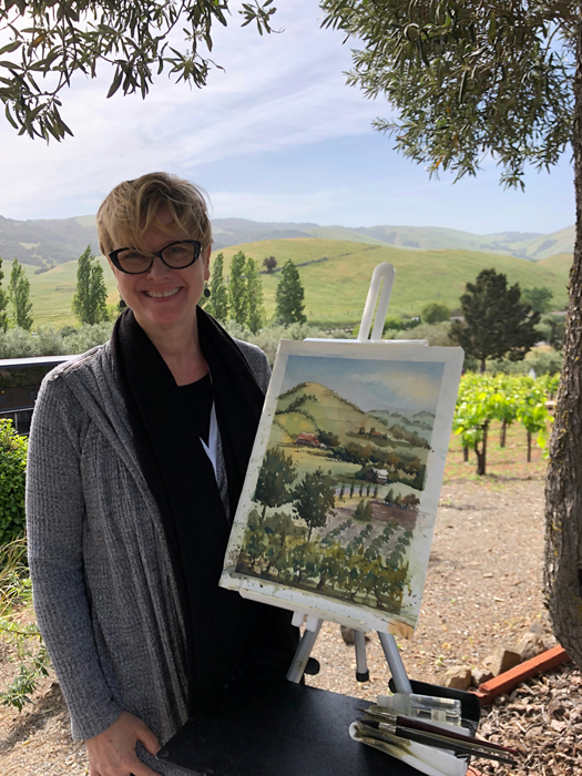 Painting at Viansa Winery, photo credit Carolyn (Martinez) Romer