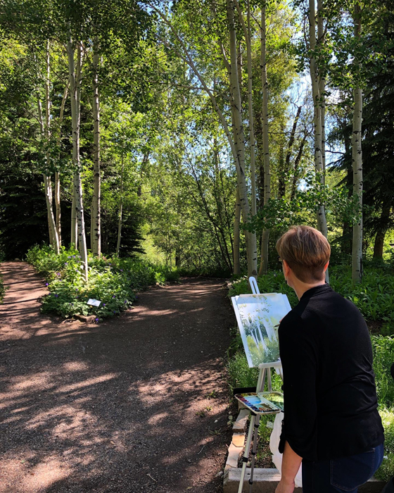 Painting en Plein Air at Yampa River Botanic Part