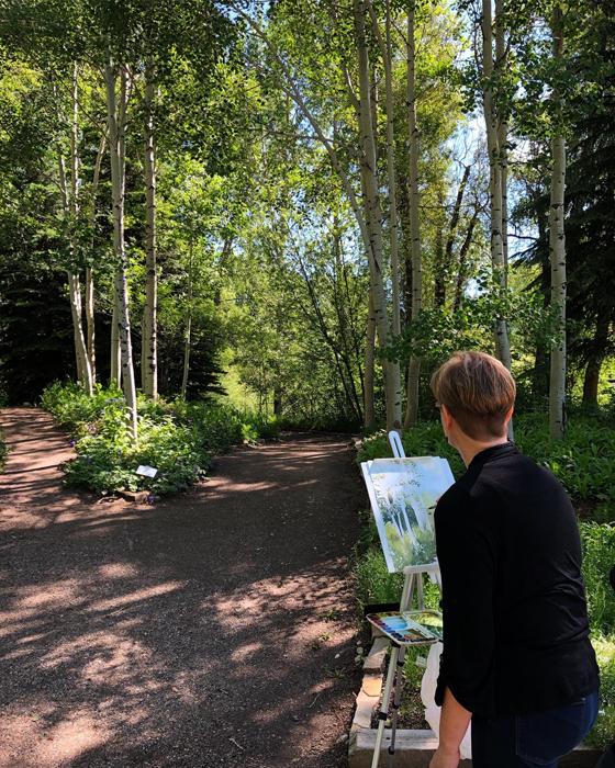 Painting en Plein Air at Yampa River Botanic Part