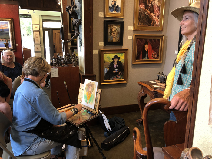 Nancy Boren Demonstration at Wild Horse Gallery