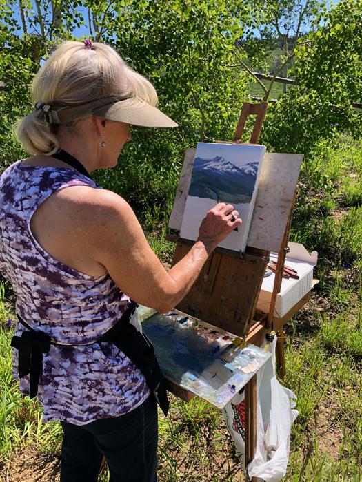 My Painting Buddy, Carol Swinney