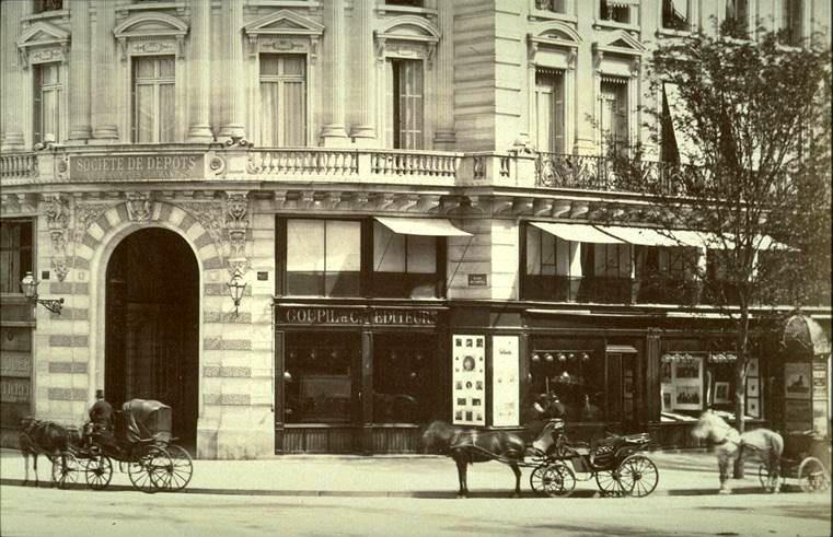 Goupil & Cie Gallery, Place de l'Opéra Paris, photo Wikimedia Commons