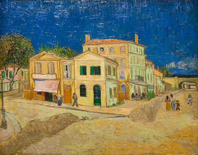 The Yellow House, The Street, 1880, photo Wikimedia Commons, from the Van Gogh Museum