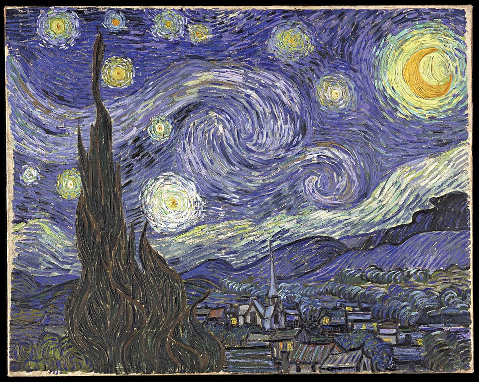 Starry Night, 1889, photo Wikimedia Commons, collection Museum of Modern Art