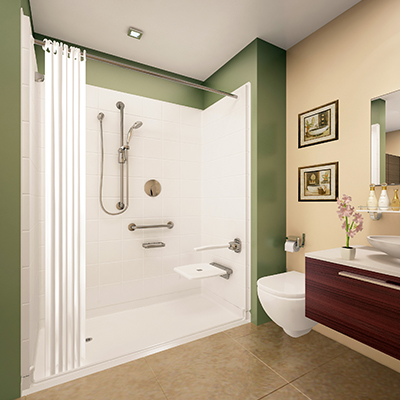Multi Piece Showers for Bathroom Remodel