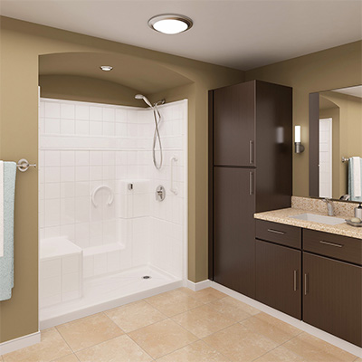 One Piece Showers for New Construction