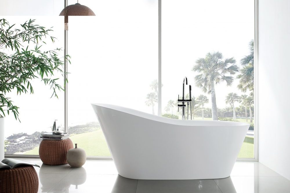 Ibiza Acrylic Freestanding Oval Infusion™ Microbubble Therapy Bathtub