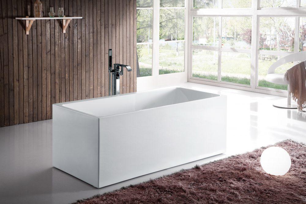 Bali Acrylic Freestanding Rectangular Therapeutic Air Massage Bathtub