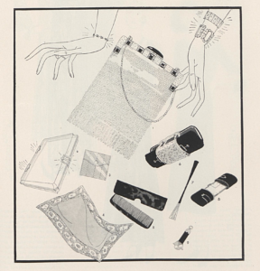 """Fashion: Inside Facts About an Evening Bag."" 1930. Vogue , April 26, 75."