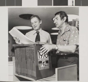 Ralph Roske (right) began instructing his undergraduate history students to conduct oral history interviews with the Las Vegas community in the early 1970s.