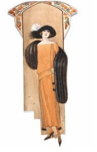 Hilda Steward, fashion design, London, 1923. Museum no. E.1039-1988. Victoria and Albert Museum.