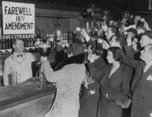 Celebration of the adoption of the 18th Constitutional amendment in New York, 1932