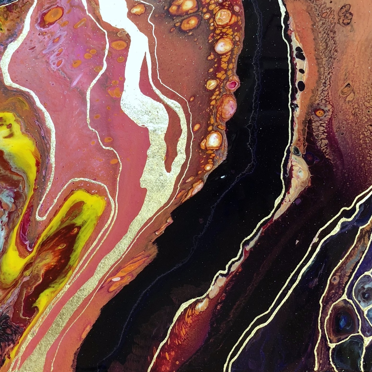 From stones to aerial photos to galaxies, fluid abstracts all look like something in nature.