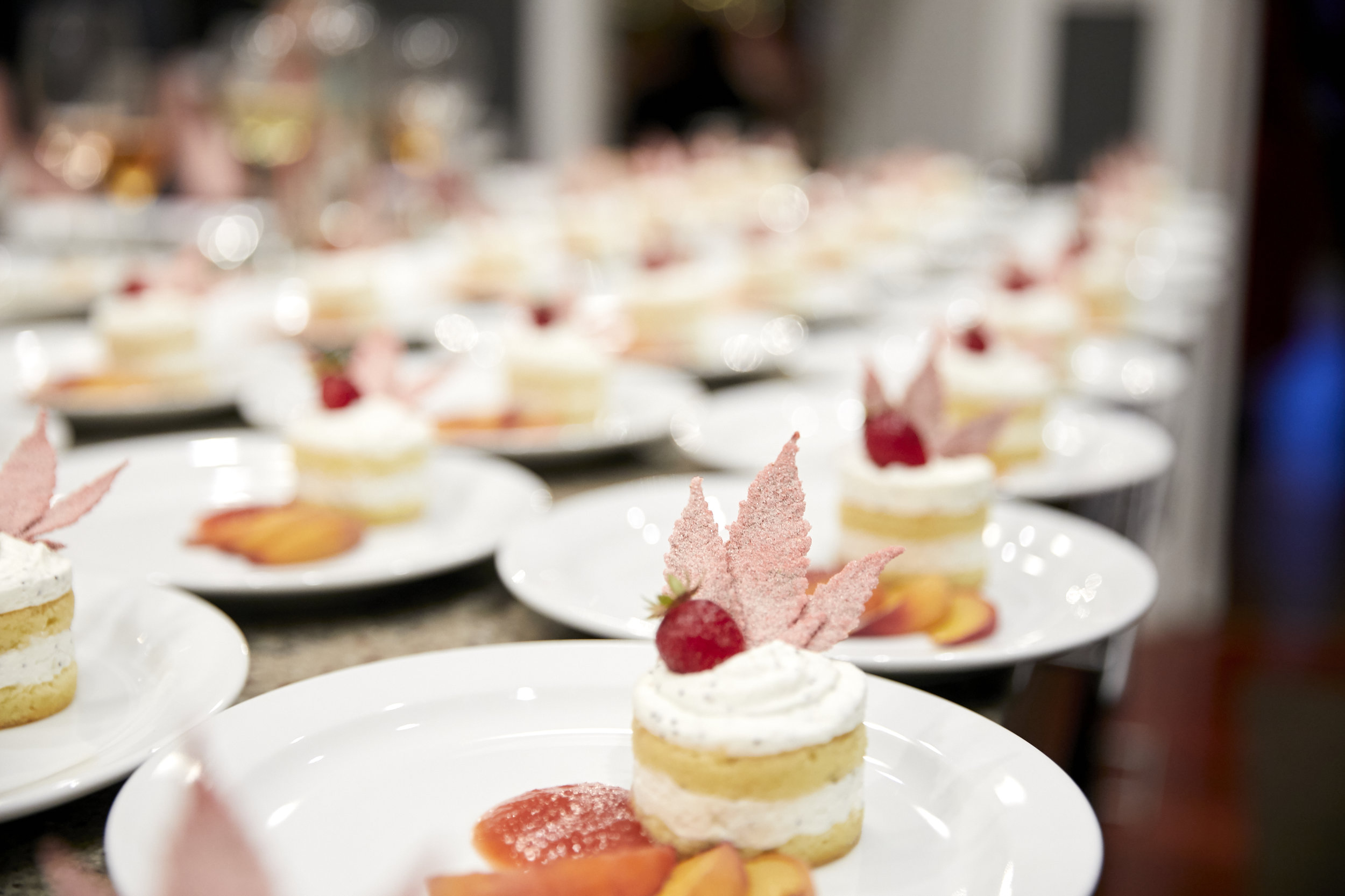 Almond Olive Oil Cake with Candied Canna Leaf paired with Anselmi i Capitelli dessert wine served at The Herb Somm's Thurday Infused event photo credit Tyler Arneson.jpg