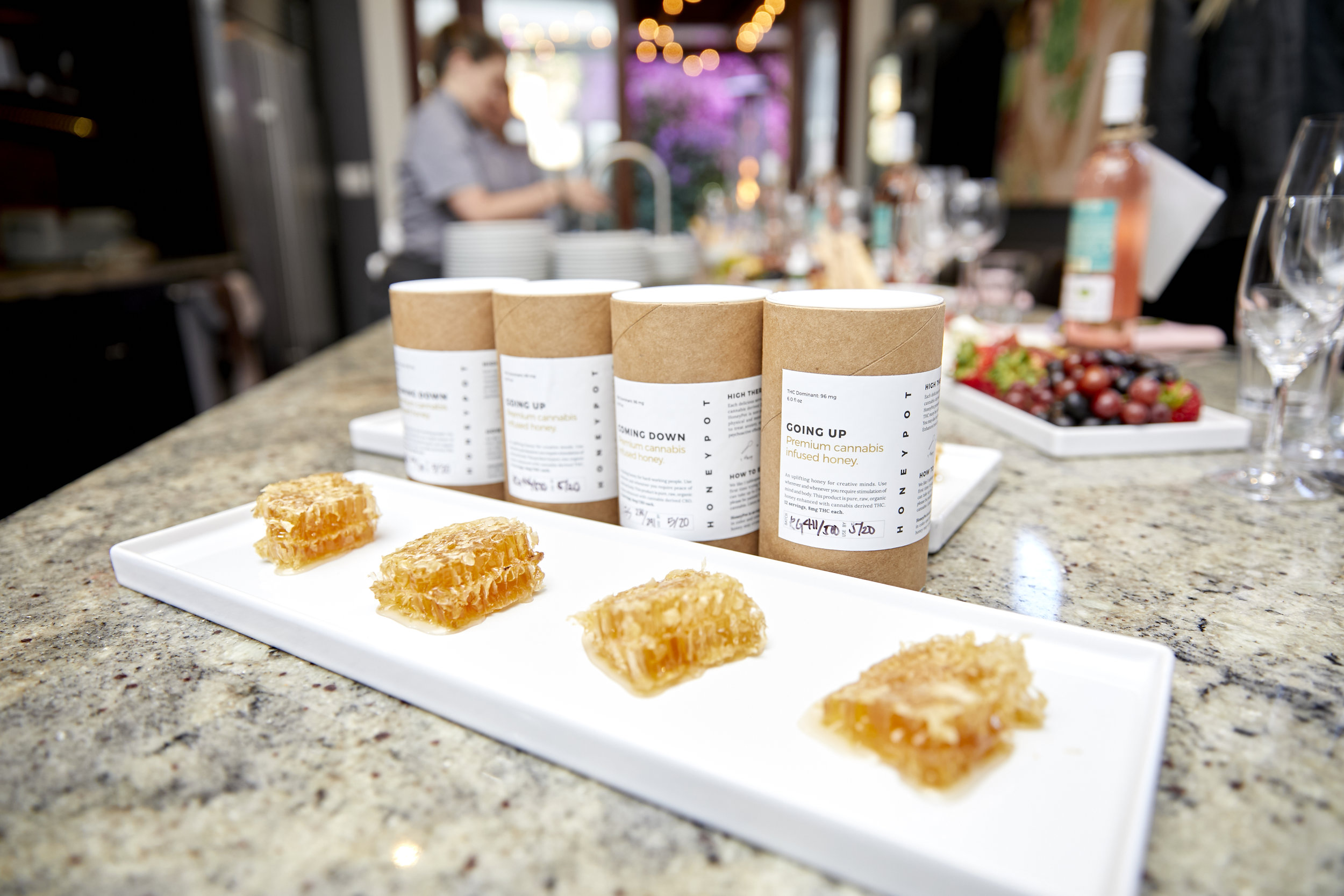 HoneyPot's infused honey served at The Herb Somm's Thursday Infused event photo credit Tyler Arneson.jpg