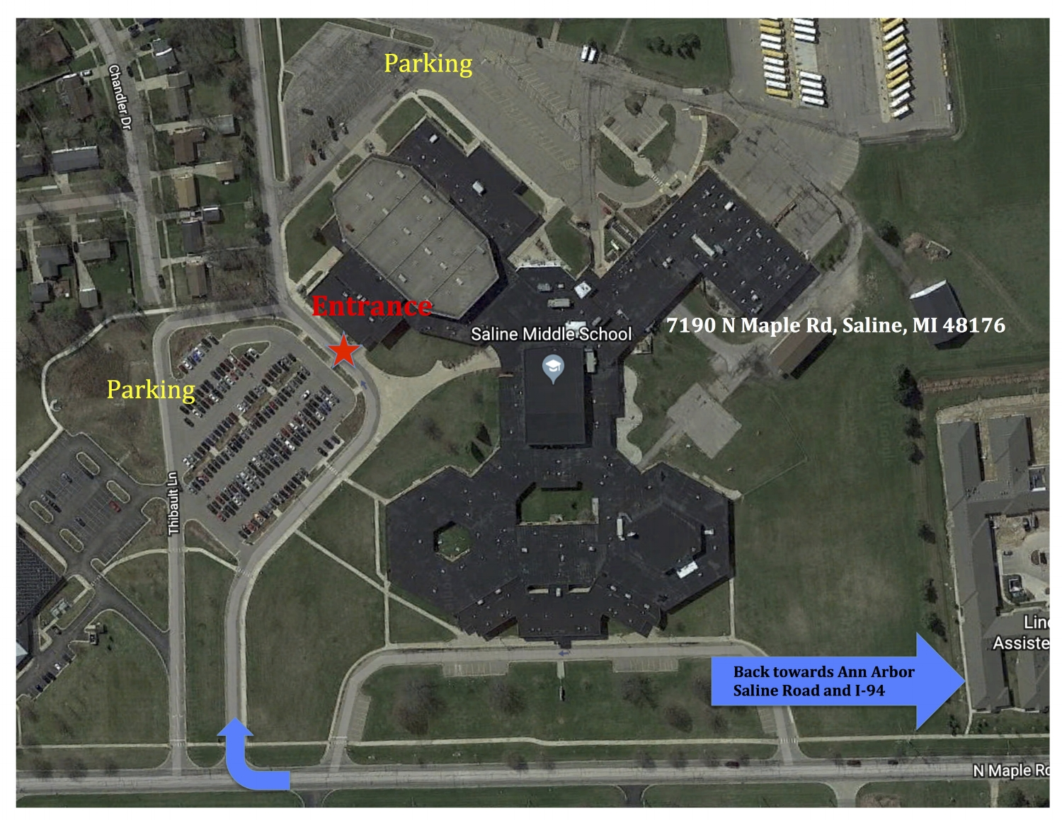 SALINE MIDDLE SCHOOL MAP