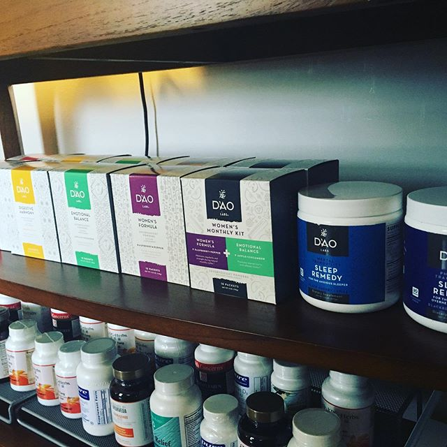 I just stocked up on some new herbal formulas from Dao Labs! I am super excited about carrying these - they are drink mixes that actually taste GOOD! They make taking Chinese Herbs so easy. And, more importantly, they work! #daolabs #chinesemedicine #naturalmedicine #imgoingtosleepwelltonight