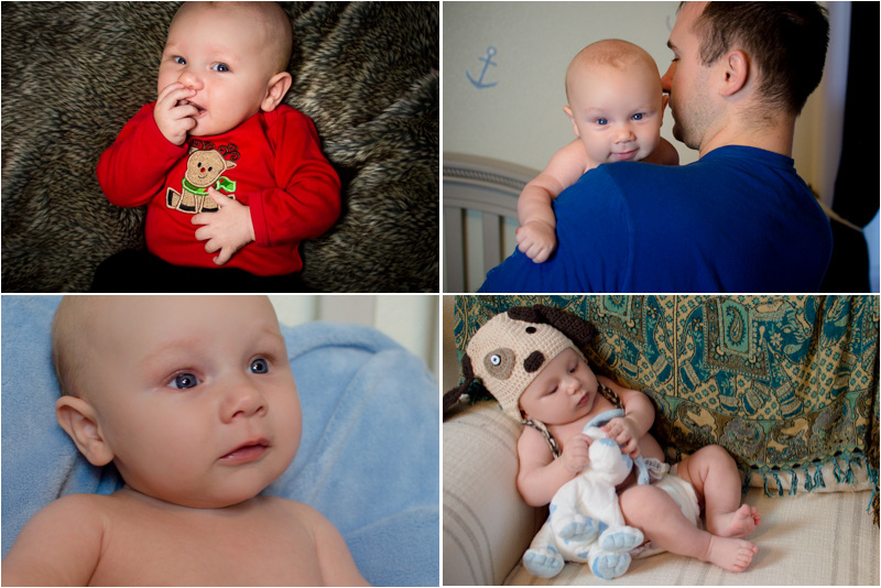 Noah's 3 Month photos that Stacey coached me through taking
