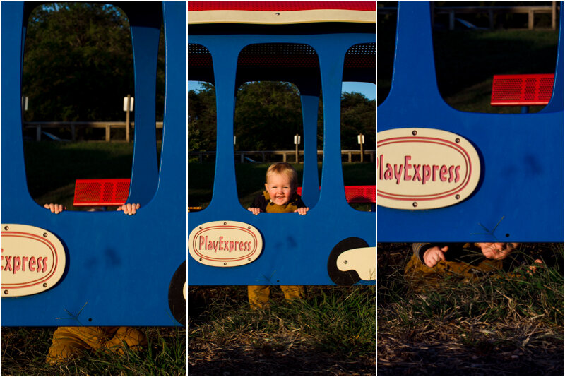Sam played a game of Peek a Boo with the camera