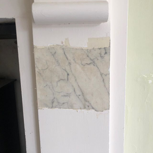 This is why we love our job! Whilst working on our current restoration project, we began to look closer at the drawing room fireplace. The owners had no idea until now that it was actually Carera Italian marble. We've, completely stripped back a 100 years worth of paint to uncover this beauty. It's now been fully cleaned and polished to its original condition.
