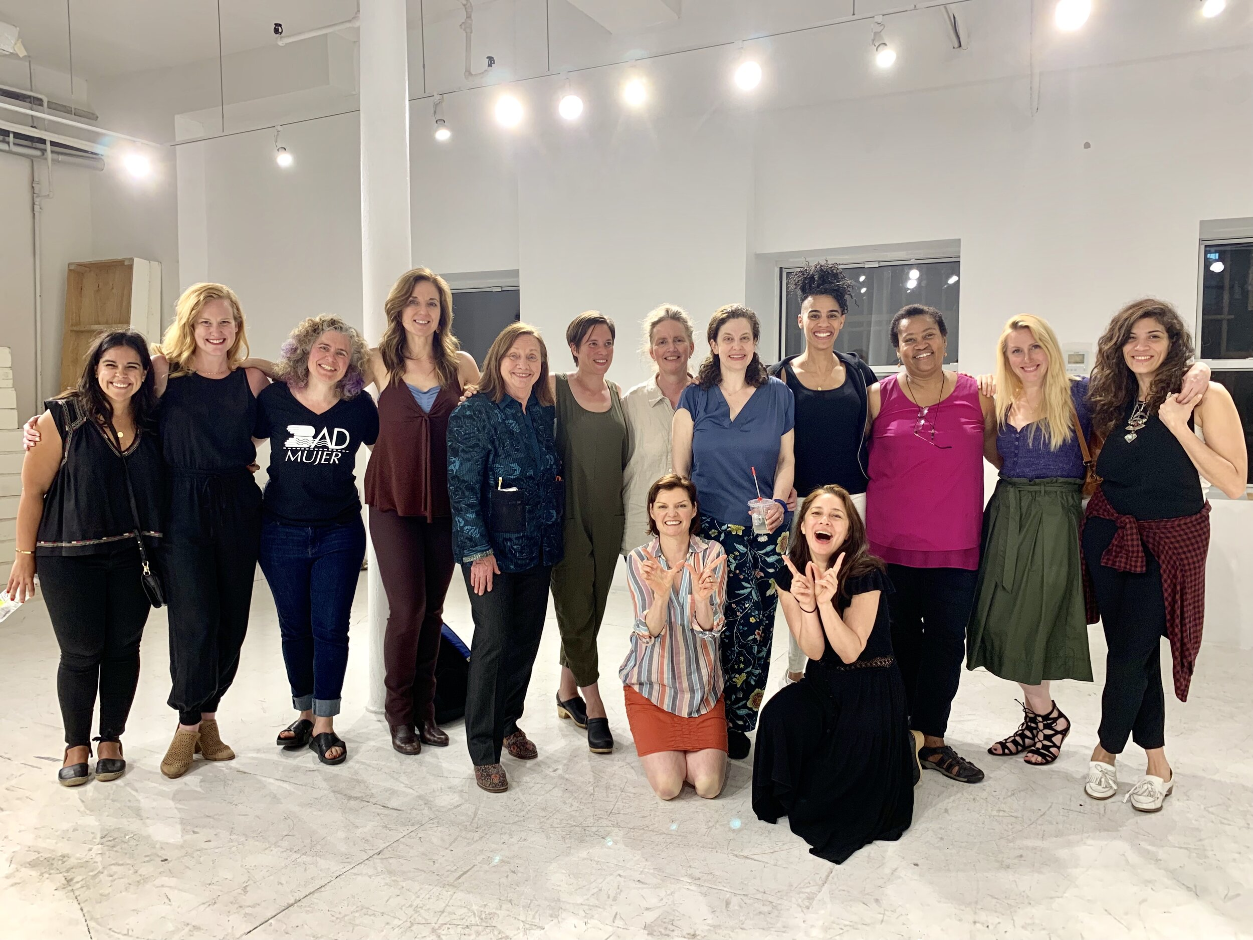 Members of the Women Artists Writing Group in NYC