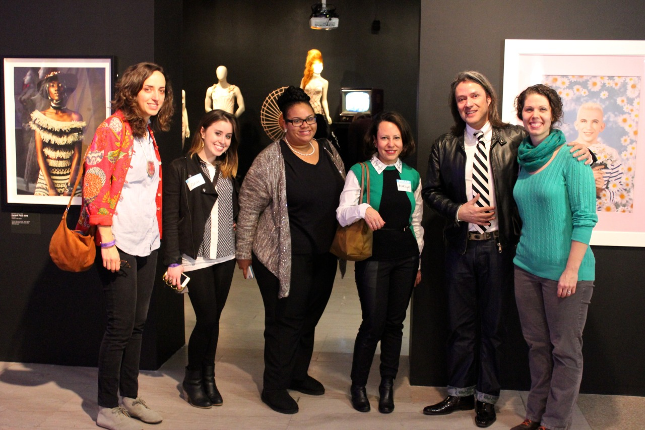 Jean Paul Gaultier exhibition at the Brooklyn Museum of art with guests and curator Brooke Baldeschwiler