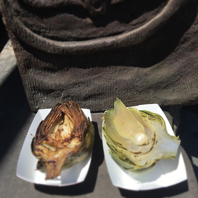 Grilled or steamed. @artichokefestival