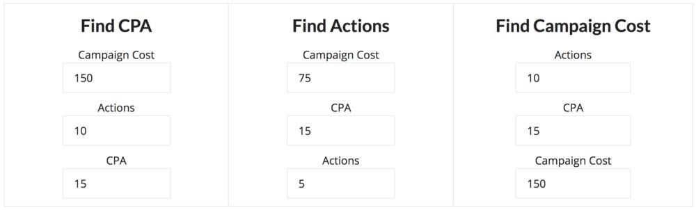 A screenshot from a convenient  CPA & CPM calculator . Bookmark this one!