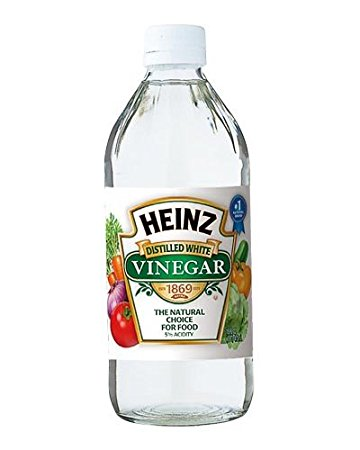 Heinz distilled white vinegar bottle