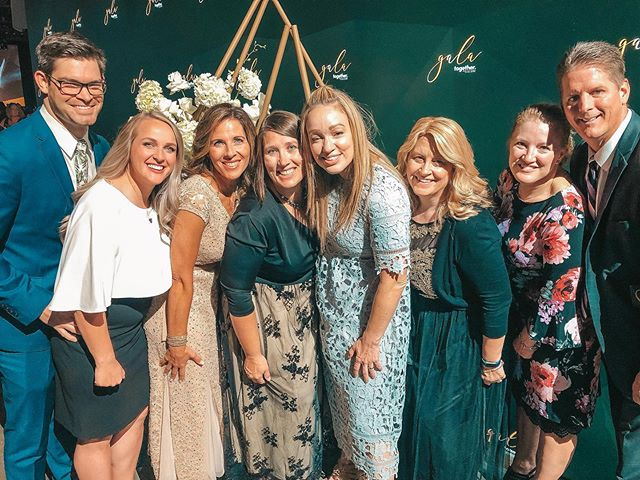 """I love these people! 💕 With most of our team out of state, these beautiful people have adopted us onto their team! . DōTERRA's Gala was one for the books last night! ✨ I was truly moved by the first diamond to """"walk"""" the carpet... She was recently diagnosed with ALS and was wheelchair bound. 🌈 The CEO's of our company helped her walk down the stairs and onto the carpet for her big moment. It was SUCH a beautiful site. I am beyond blessed to be working with such an amazing company and group of people. . . . #doterraconvention2019 #togetherconvention2019 #doterragala2019 #doterragala #dirtydogoils"""