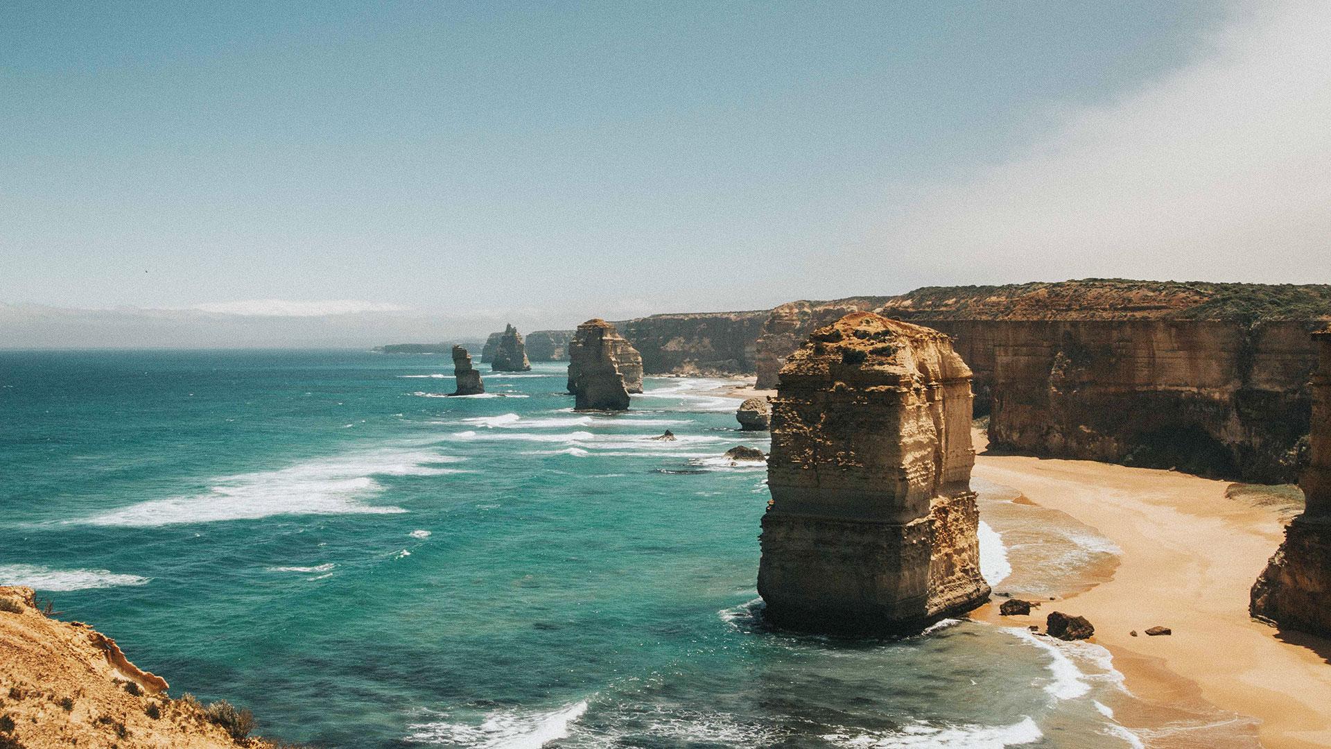 The Twelve Apostles by the Great Ocean Road in Australia. (Cody Board, Unsplash)