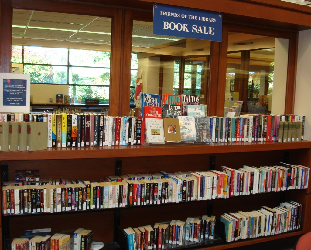 Our ongoing book sale at the Mercer Island Library.