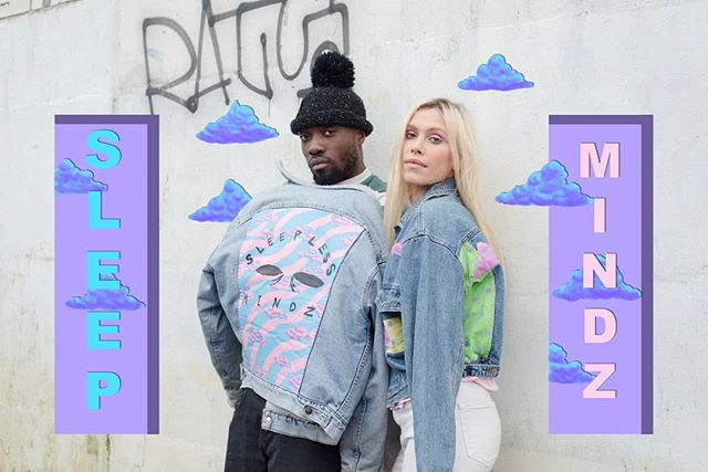 🍃🌤️Let's vibe out 🌤️🌊 📸 @menabena • #sleeplessmindz #love #sleepless #art #painteddenim #paintedclothing #streetwear #90s #80s #pastel #la #newyork #vancouver vibes #emergy #manifestation #hyoebeast #complex #illustration #wearableart #artbaselmiami #growth