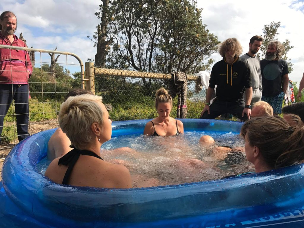 This was me, at my Advanced Module Wim Hof Method Training in Melbourne early 2017 with Wim watching on closely. No pressure!