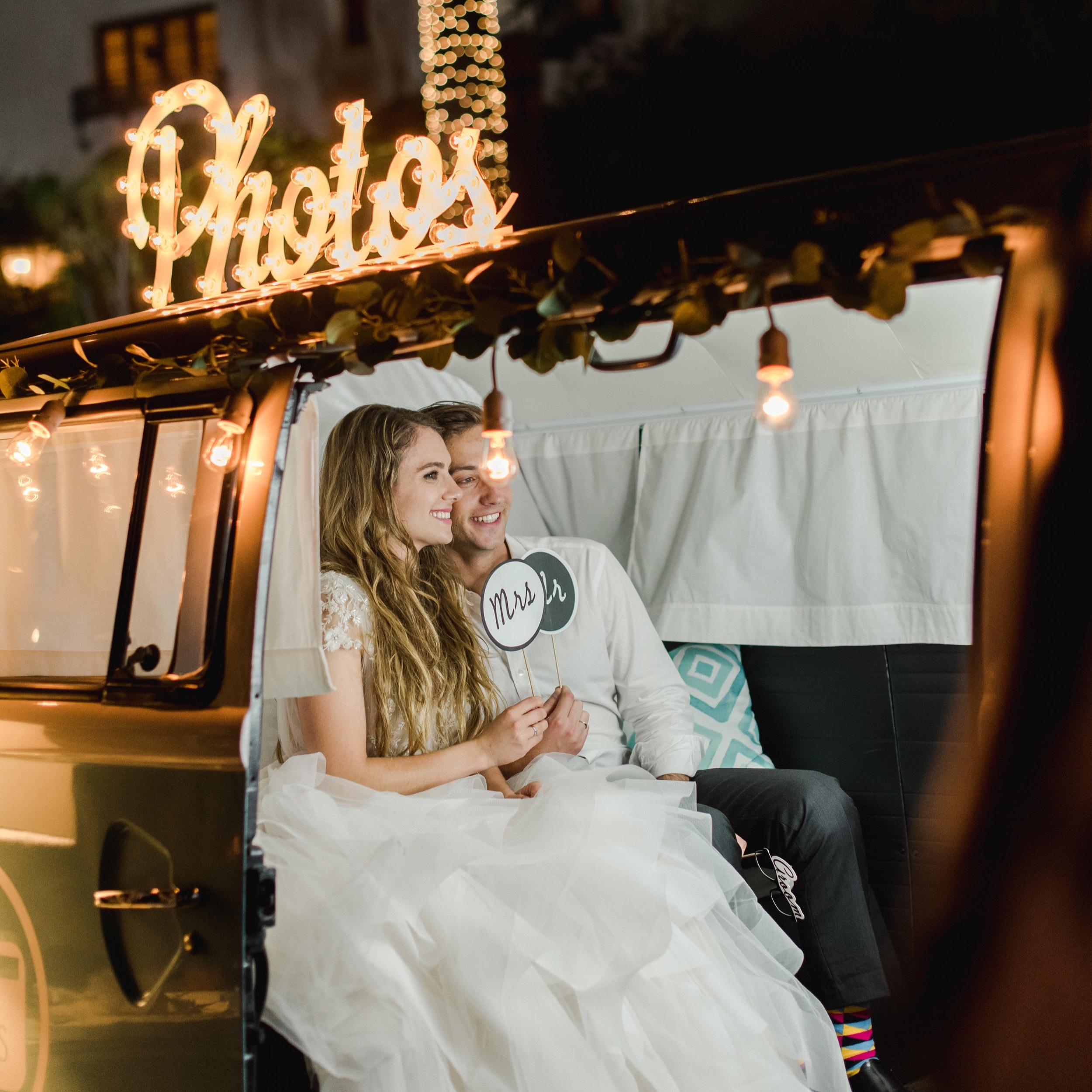Bride and Groom in our bus